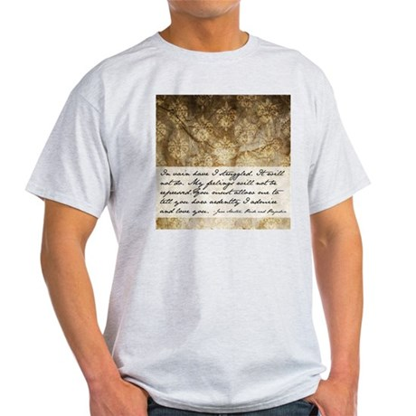 Pride and Prejudice Quote Light T-Shirt