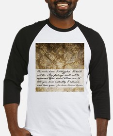 Pride and Prejudice Quote Baseball Jersey