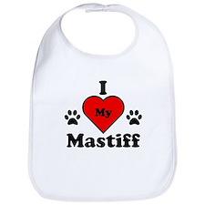 I Heart My Mastiff Bib