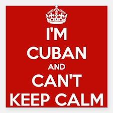 I'm Cuban and I Can't Keep Calm Square Car Magnet