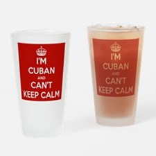 I'm Cuban and I Can't Keep Calm Drinking Glass