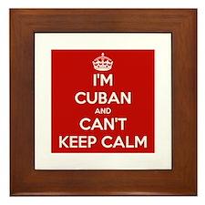 I'm Cuban and I Can't Keep Calm Framed Tile