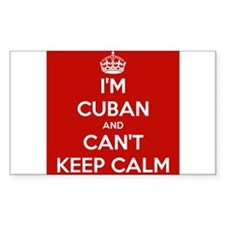 I'm Cuban and I Can't Keep Calm Decal