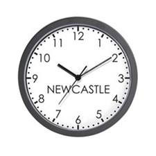 NEWCASTLE Modern Newsroom Wall Clock
