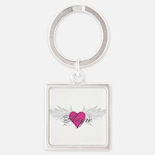 My Sweet Angel Angie Square Keychain