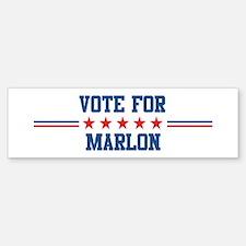 Vote for MARLON Bumper Bumper Bumper Sticker