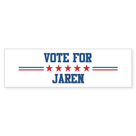 Vote for JAREN Bumper Sticker