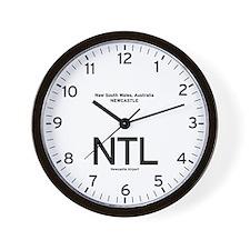 Newcastle,AU NTL Airport Newsroom Wall Clock