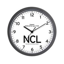 Newcastle,UK NCL Airport Wall Clock