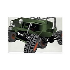 jeep truck rock crawler offroad race Rectangle Mag