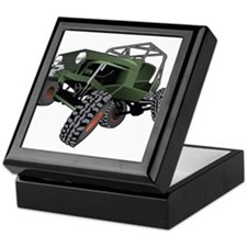 jeep truck rock crawler offroad race Keepsake Box