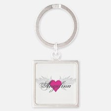 My Sweet Angel Angelina Square Keychain