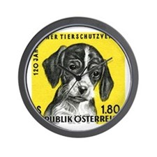 Vintage 1966 Austria Puppy Dog Postage Stamp Wall
