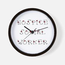Hospice SW Hearts Wall Clock