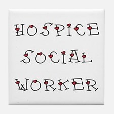 Hospice SW Hearts Tile Coaster