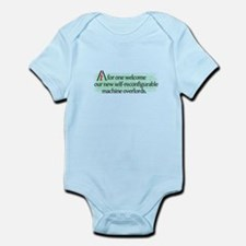 AI overlords dark Infant Bodysuit