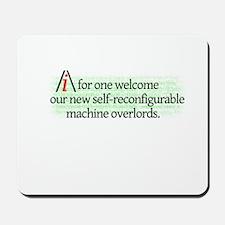 AI overlords dark Mousepad