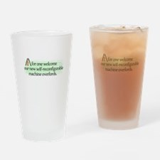 AI overlords dark Drinking Glass