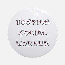 Hospice SW Hearts Ornament (Round)