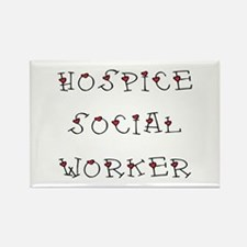 Hospice SW Hearts Rectangle Magnet
