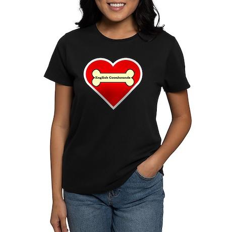 English Coonhounds Heart Women's Dark T-Shirt