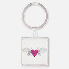 My Sweet Angel Amber Square Keychain