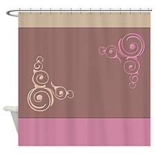 Flourishes on Mauve Shower Curtain