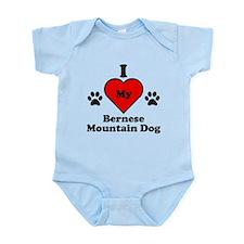 I Heart My Bernese Mountain Dog Infant Bodysuit