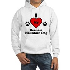 I Heart My Bernese Mountain Dog Hoodie