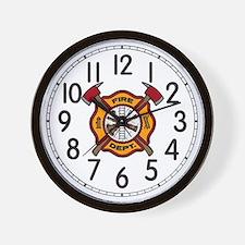 Fire Dept Wall Clock