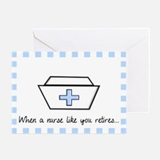 retired nurse card 1 Greeting Card
