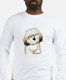 Shih Tzu Caricature Long Sleeve T-Shirt