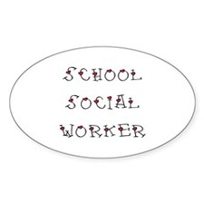School SW Hearts Oval Decal