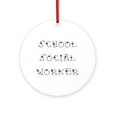 School SW Hearts Ornament (Round)