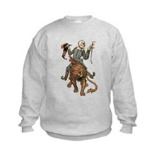 Oz Scarecrow and Lion.png Sweatshirt