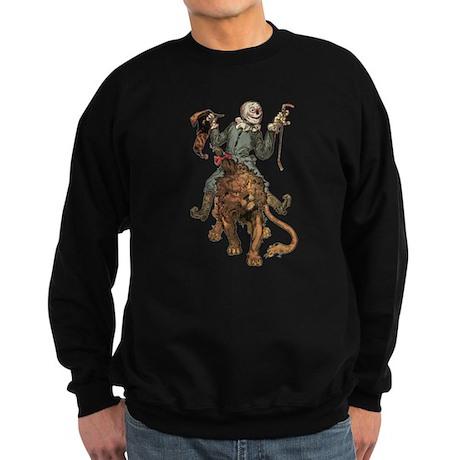 Oz Scarecrow and Lion.png Sweatshirt (dark)
