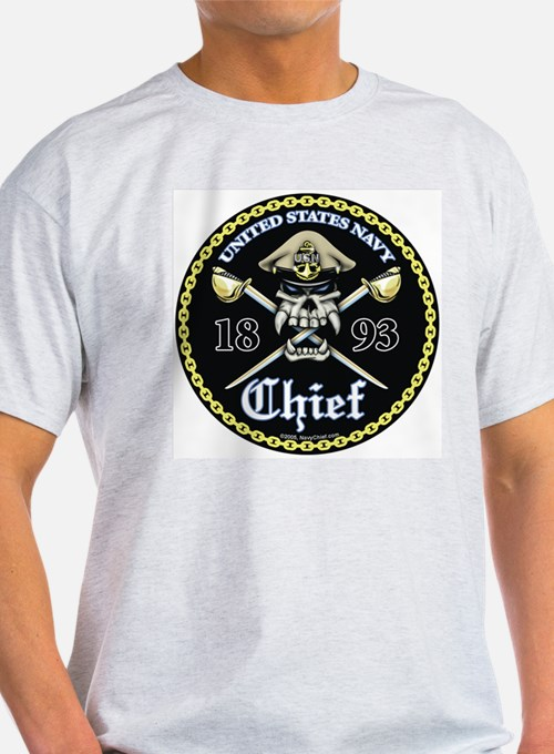 Navy Chief 1893 Ash Grey T-Shirt T-Shirt