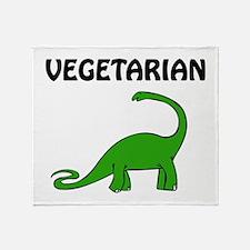 Vegetarian Brontosaurus Throw Blanket
