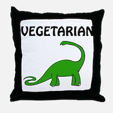 Vegetarian Brontosaurus Throw Pillow