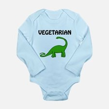 Vegetarian Brontosaurus Long Sleeve Infant Bodysui