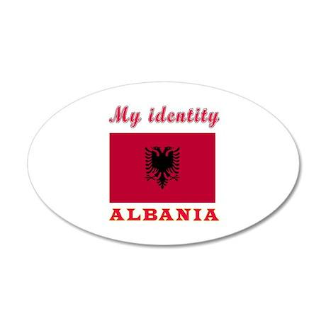 My Identity Albania 35x21 Oval Wall Decal