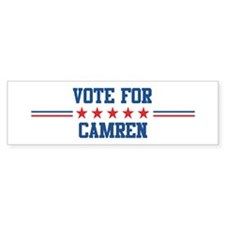 Vote for CAMREN Bumper Bumper Sticker