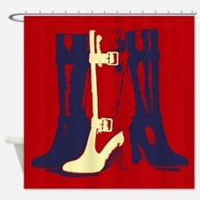 Pop Art Boots Shower Curtain