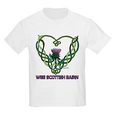 Scot Bairn Thistle Heart T-Shirt