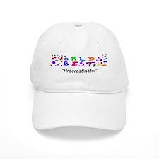 Worlds Best Procrastinator Baseball Cap