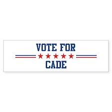 Vote for CADE Bumper Bumper Sticker