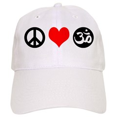 Peace Love Yoga Baseball Cap
