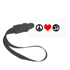 Peace Love Yoga Luggage Tag