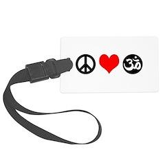 Peace Love Yoga Luggage Tag
