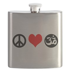 Peace Love Yoga Flask